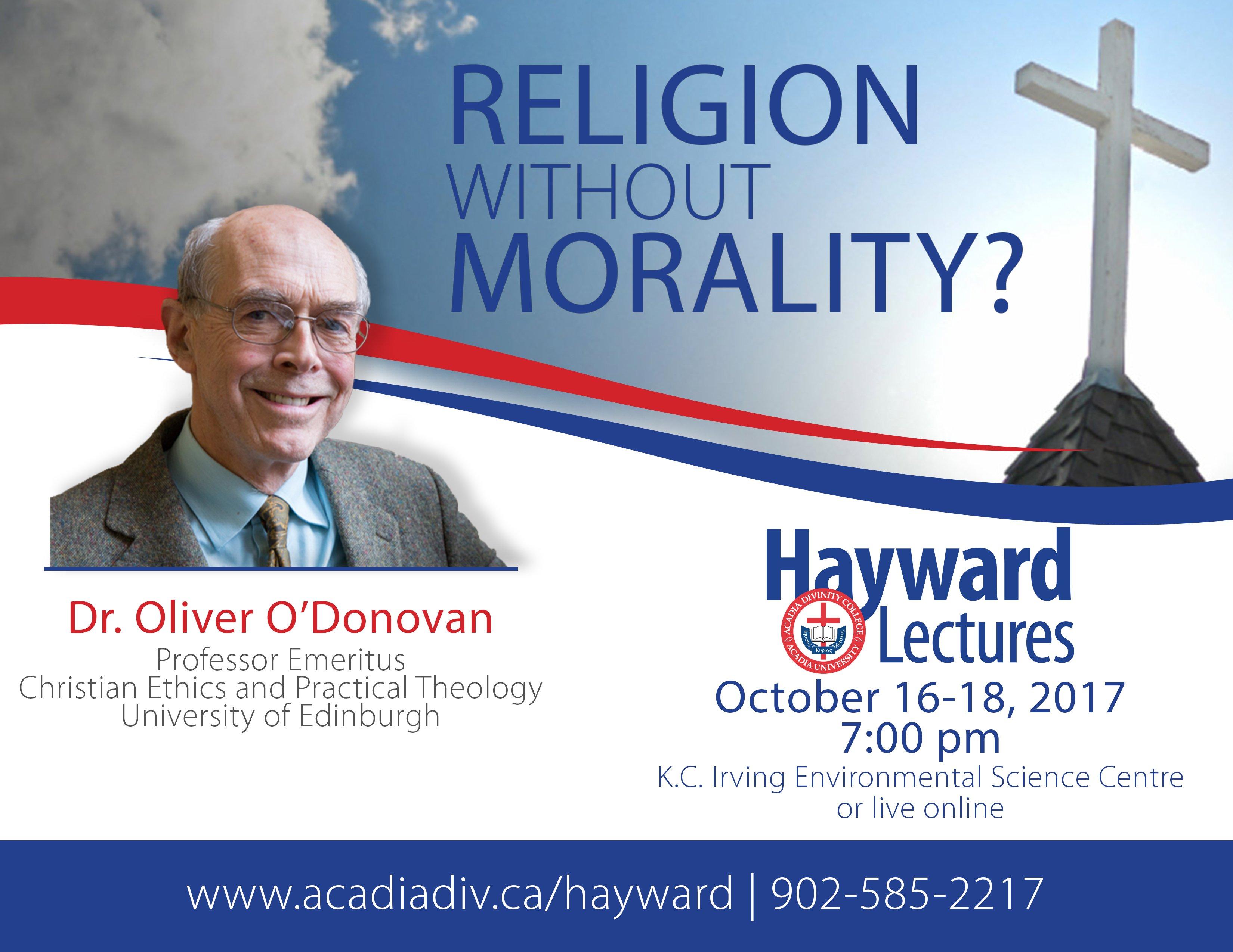 Hayward Lectures 2017